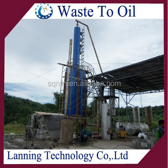 10 MT Continuous crude oil distillation plant to diesel with 85% oil yield