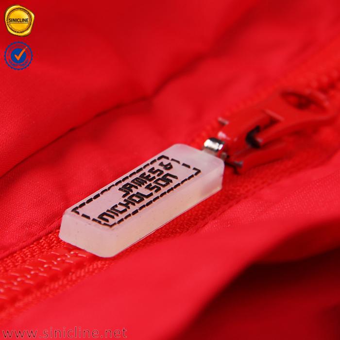 Sinicline nuovo design logo in rilievo su ordinazione di plastica zip estrattori