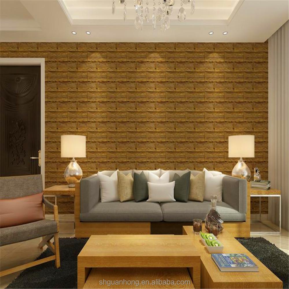 Nouveau design en relief PE mousse 3d mur papier pour intérieur ...