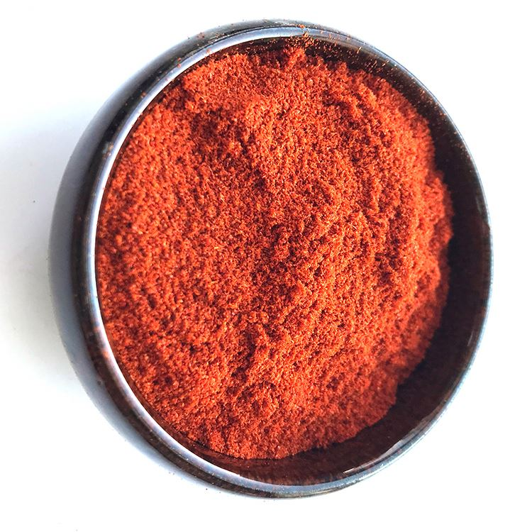 Raw material spices red chilly powder used in many different cuisines