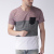 Men Maroon & Black Colourblock Slim Fit Blank Custom T-shirt