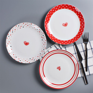 Porcelain wedding plate dishes