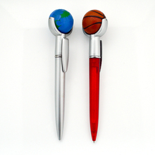 Promotional advertising basketball on pen top plastic ball pen