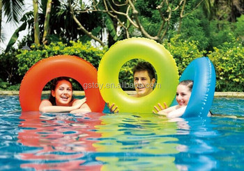 Neon Tube Inflatable Pool Float Swimming Life Ring