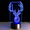 Night Lamp 3D Decor LED Light Deer Design Christmas Themes