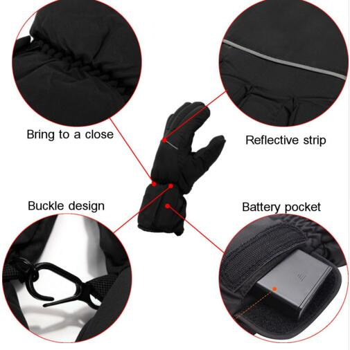 Warm Rechargeable Battery Heated Gloves For men