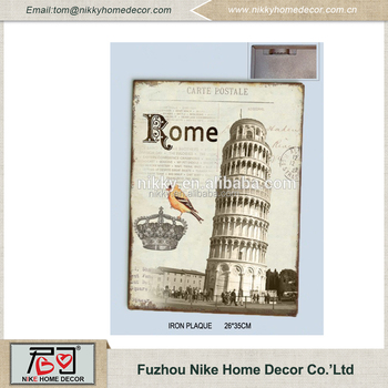 Distressed Metal Wall Art,Rome Home Goods Wall Art,Wholesale Vintage ...