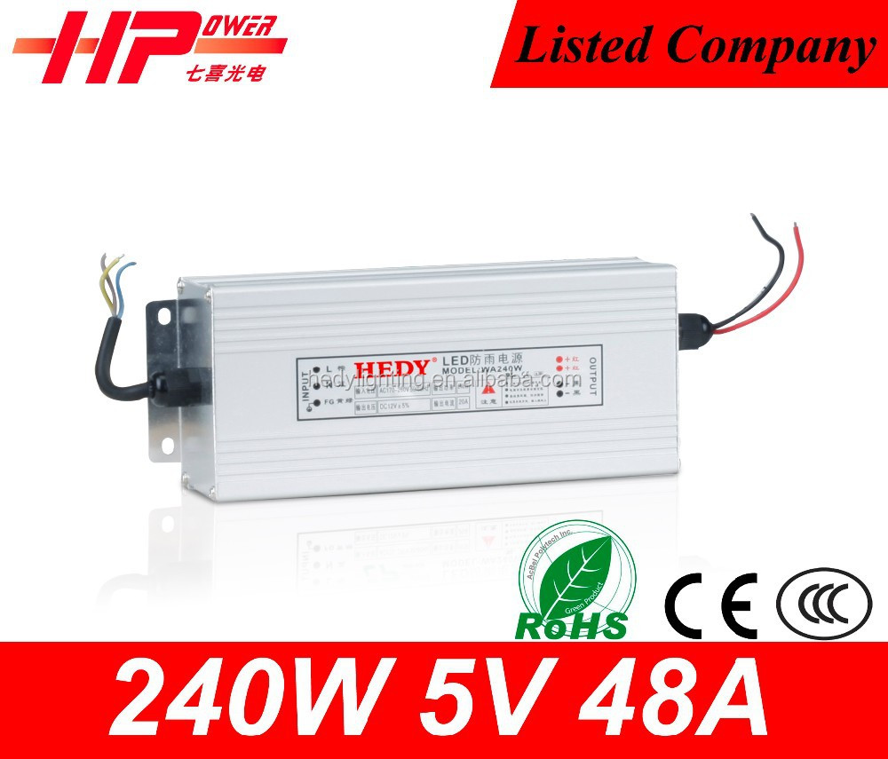 Attractive and durable the power supply ac to dc transformer constant voltage Rainproof Function 48amp 5v power supply