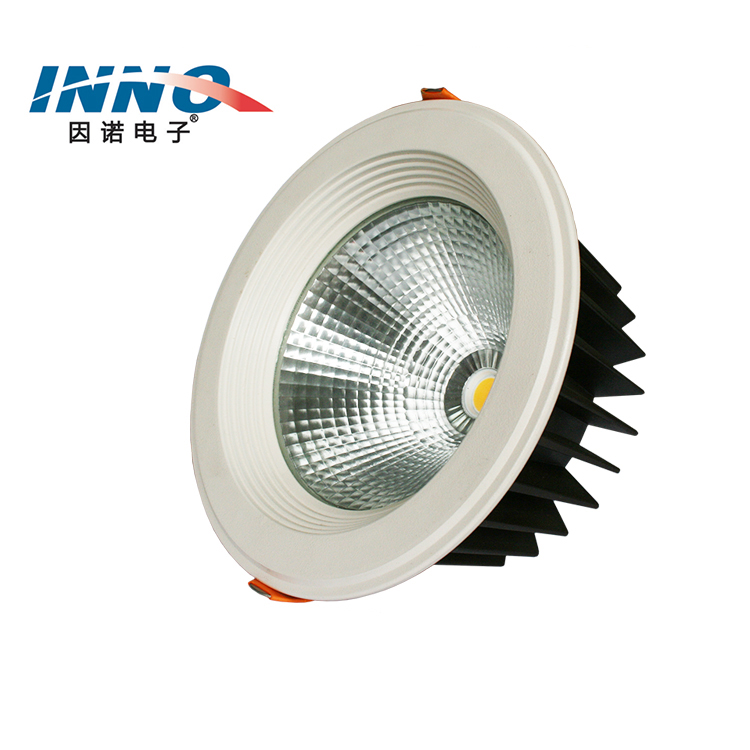 good price commercial aluminum housing round down light dimmable recessed 9w 15w 20w 30w 40w 50w 220v led cob downlight