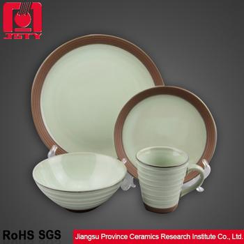 terracotta green reactive glaze dinnerware set & Terracotta Green Reactive Glaze Dinnerware Set - Buy Dinnerware Set ...