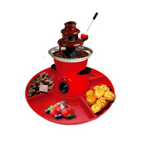 3 Tier Chocolate Fondue Fountain - Electric Stainless Choco Melts Dipping Warmer Machine - Melting, Warming