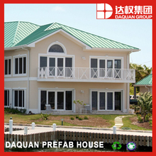 Daquan good prefab homes with fire proof eps cement sandwich panels