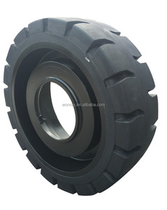Low Price OTR 18.00-25 18.00x25 Solid Tires For Hyster H1050HDS 47627kg Forklift