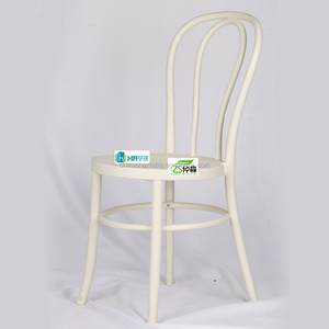 resin white thonet chair for wedding reception cafe dining chair