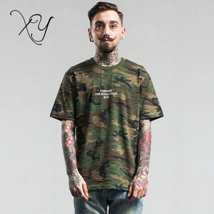 T Shirt Man Fashion Camouflage T-shirt Hip Hop Tee Shirts Men Casual Tops custom t shirt men