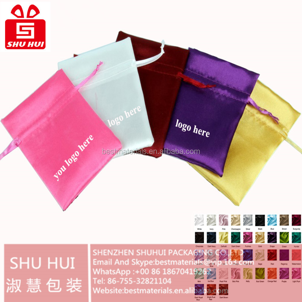 Azo Free Cotton Drawstring Bag Packaging For Hair Accessories ...