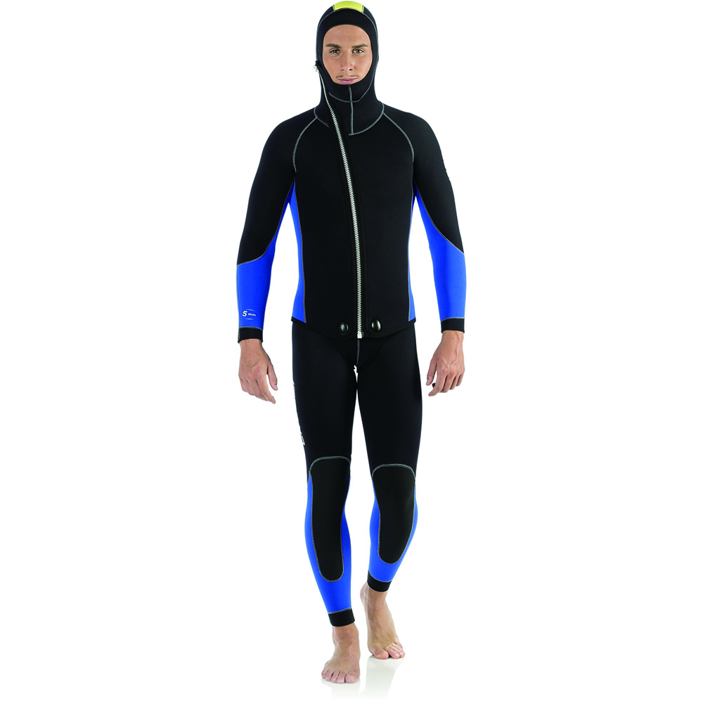 Seaskin custom neoprene 5mm two pieces hooded wetsuit for diving