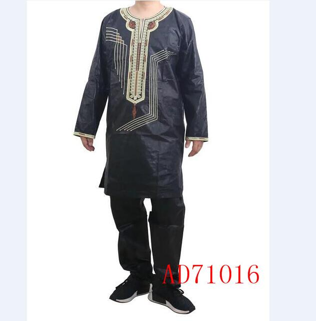 AD71016 Hot selling dubai style bazin print men cloth for wholesales