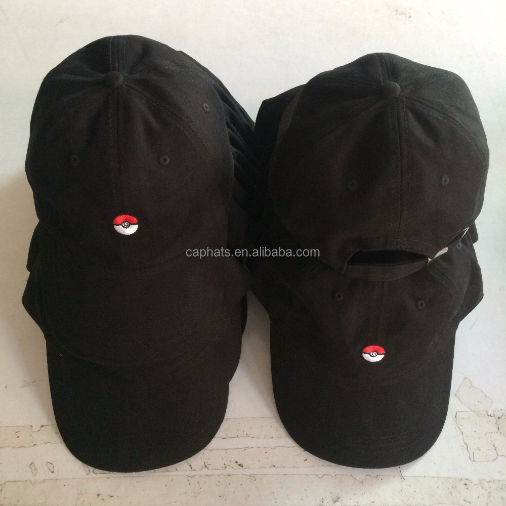 Wholesale caps new fashion game hat pokemon baseball hats and caps