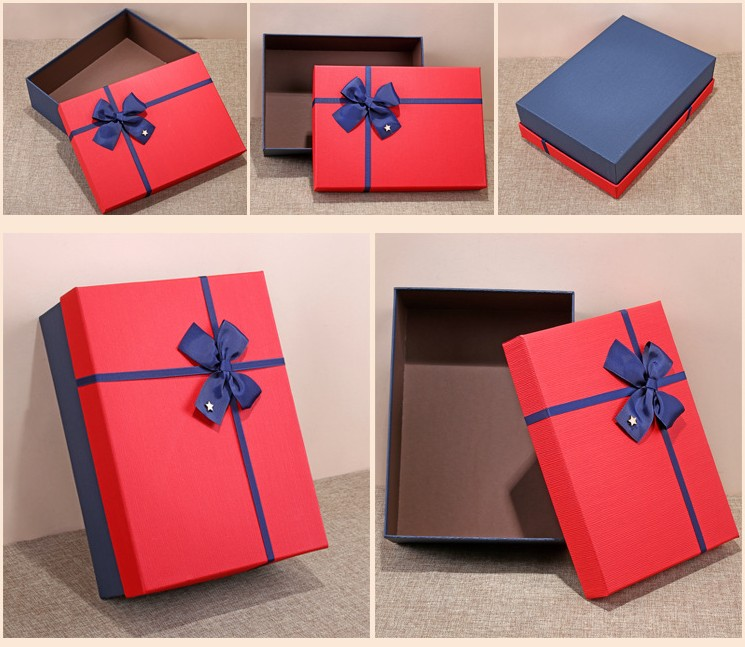 Oempromo wholesale christmas paper gift packaging box with lid