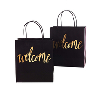 Wholesale Custom Stylish Thank You Kraft Paper Bag Shopping For Wedding Welcome