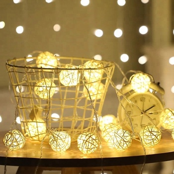 Home Decoration Lights Led Rattan Ball Light Decorative Product On Alibaba