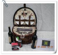 Hand made wikcer picnic basket for 4 people picnic basket hamper wicker