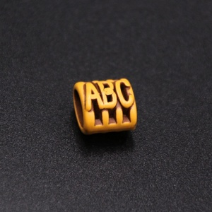 new style orange color plastic letter beads