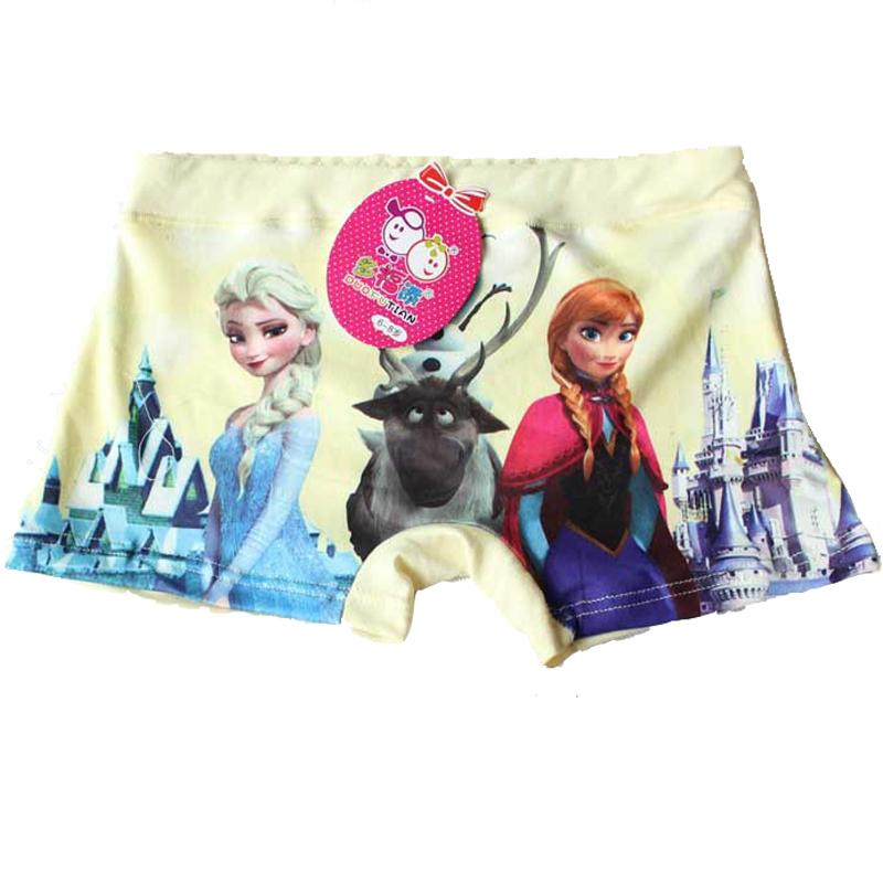 10pcs lot Girl Underwear Panties Boxer Hot Sale Cute Elsa Annd Children Underpants Wholesale Kids Breathable