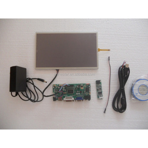 10.1 inch LCD monitor VGA/support HDMI + USB touch screen 4line resistive 1366x768 DIY