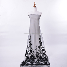 Special design hand embroidery net fabric wholesale tulle rolls dress making lace fabric