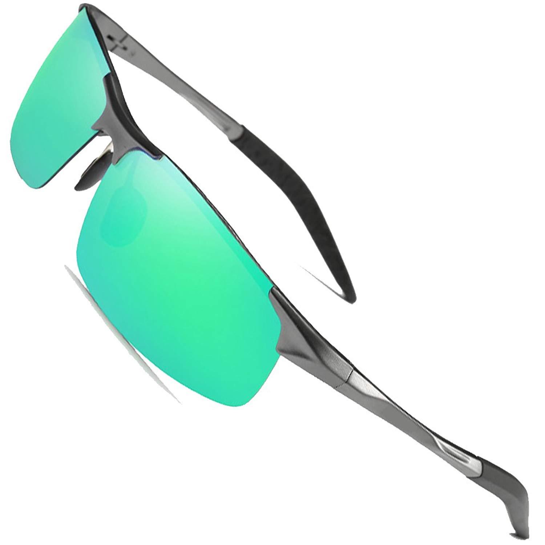 MOTELAN Men's Polarized Sunglasses for Driving Fishing Golf Metal Glasses UV400