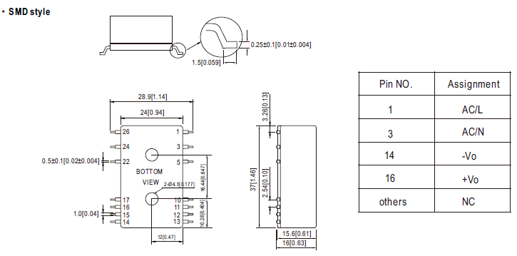Industrial Open Frame 3W 12V 250mA IRM-03-12 Meanwell AC-DC SMPS IRM-03 Series Mean Well Switching Power Supply
