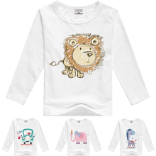 Stylish cotton children t shirts long sleeve t shirts cartoon t shirt girls and boys t