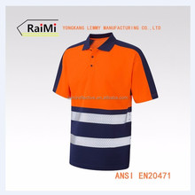 OEM manufacture safety reflective t shirt wholesale cheap