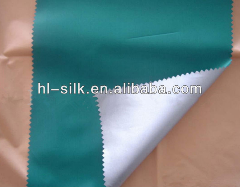 2013 silvery coated parasol fabric polyester for umbrella