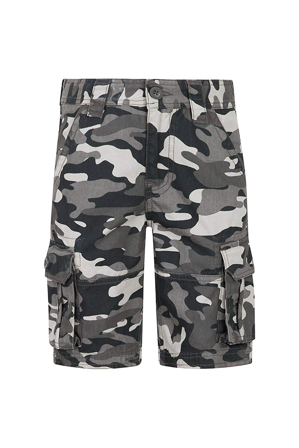 81a3694ecb91 Get Quotations · Mountain Warehouse Kids Camo Cargo Shorts - 100% Cotton  Summer Pants