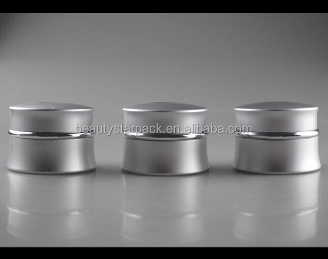 Wholesale silver aluminum ceramic cosmetic jar white for face cream