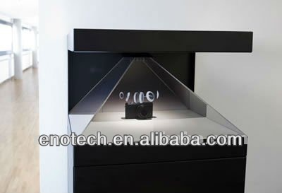 Holographic box /Hologram 3D display for window display in science museum, memorial museum