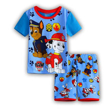 Children s casual sleepwear 2016 New girls cartoon sofia short sleeve pajamas kids summer lovely t