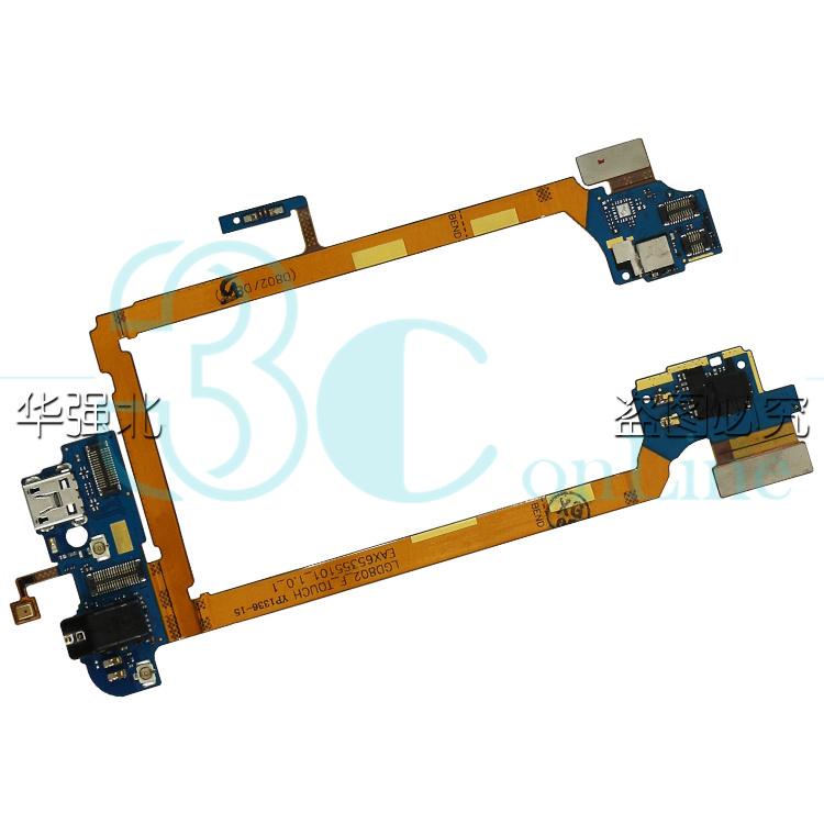 Для LG Optimus G2 D802 подключения док-станции микро USB порт зарядки разъем для наушников микрофон жк-flex ленточный кабель модуль части