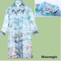 New arrival 2015 spring kimono style ladies elegant modern blouses