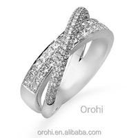 Fashion 18 Carat White Gold Natural Diamond Engagement Ring ...