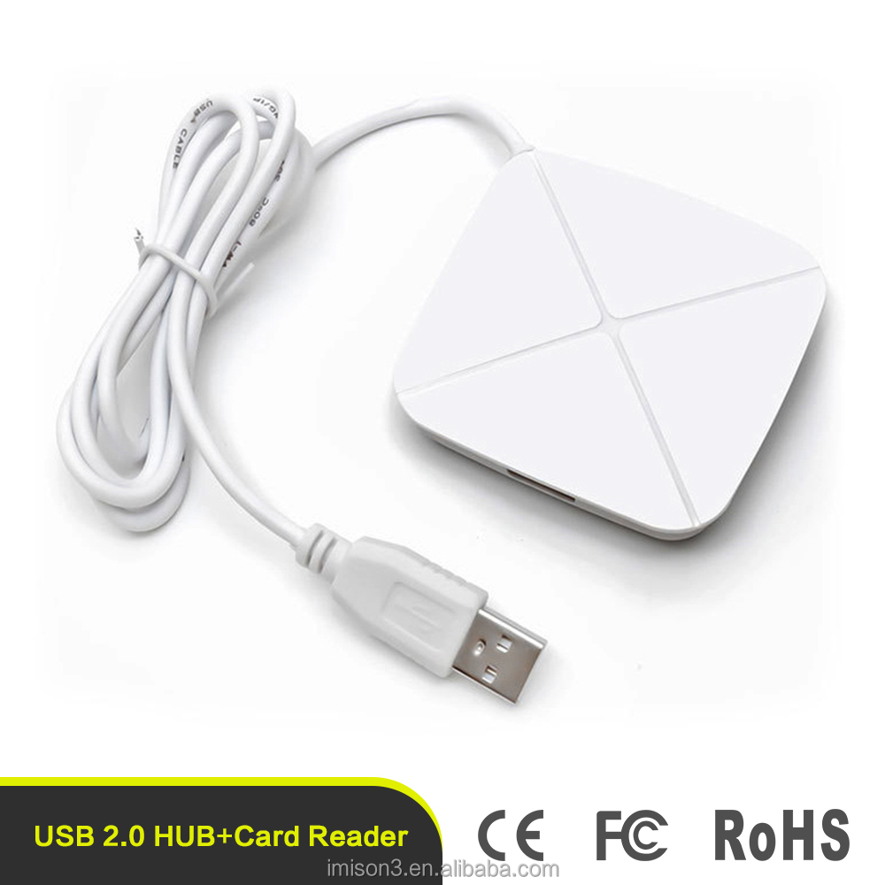 USB 2.0 Ports Hub Combo SD/MMC/M2/MS/TF All in One Multi card Reader