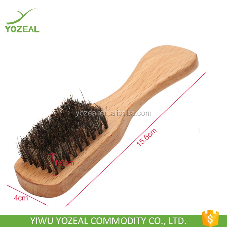 100% boar bristle beard hair brush with beech wood handle