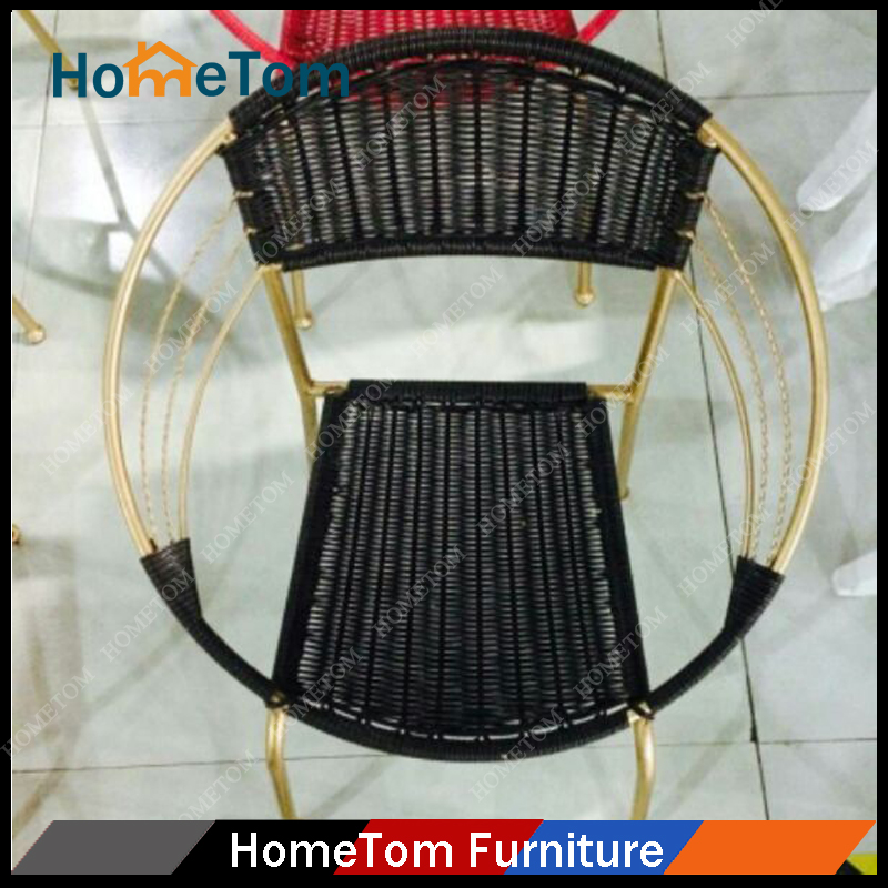 Wholesale Cheap Patio Metal Rattan Chair (1 Table + 2 Chairs)