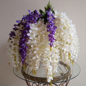 china factory artificial wisteria fabric flower