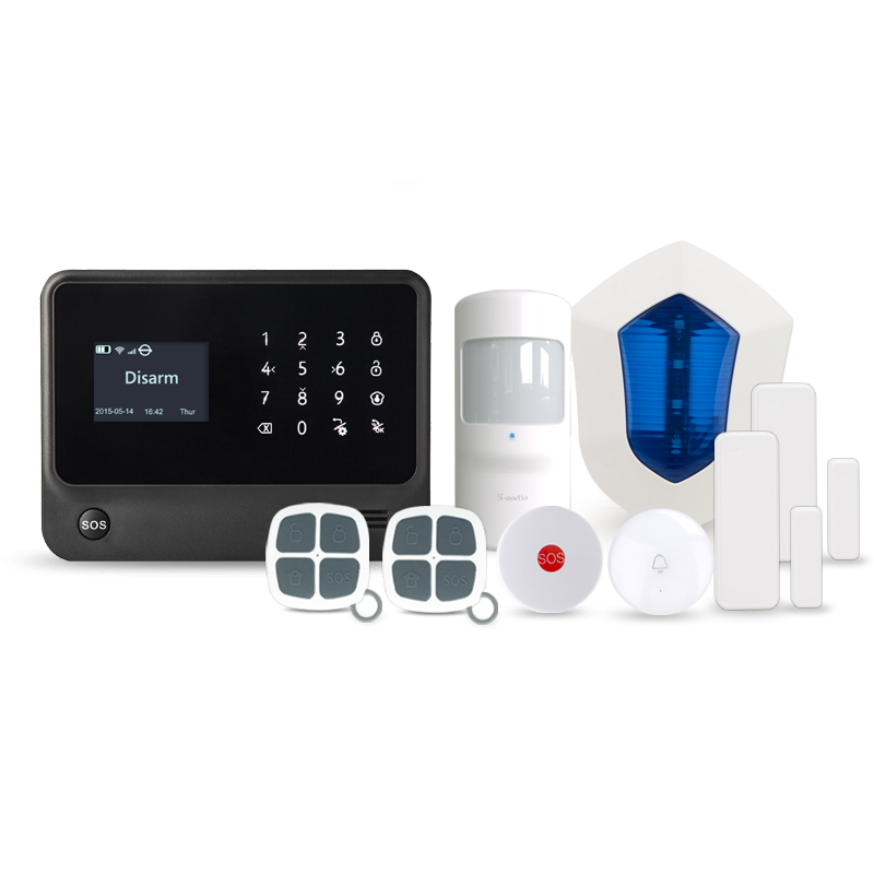 Auto-check door statue self-defense smart security home alarm system G90B Plus new product 2017 ,WIFI GSM 3G alarm system