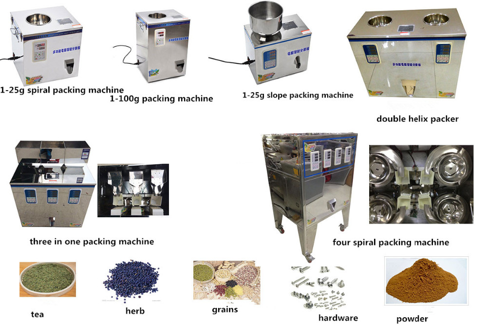 Half automatic food rice, beans, sugar packaging machine price