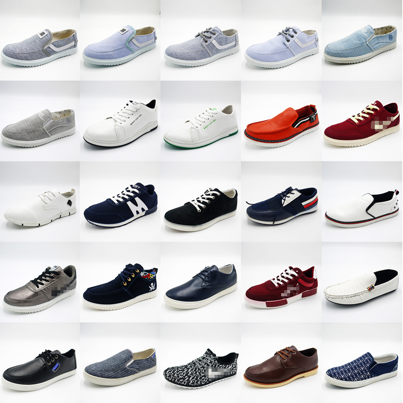 $2 dollar fashion men cheap mixed stock casual canvas shoes